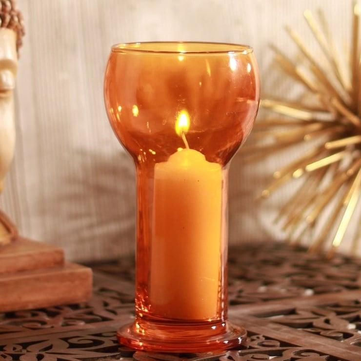suport-lumanare-sticla-lucilla-portocaliu